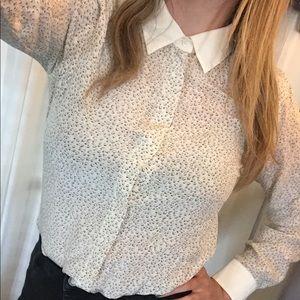 Club Monaco 100% silk shirt